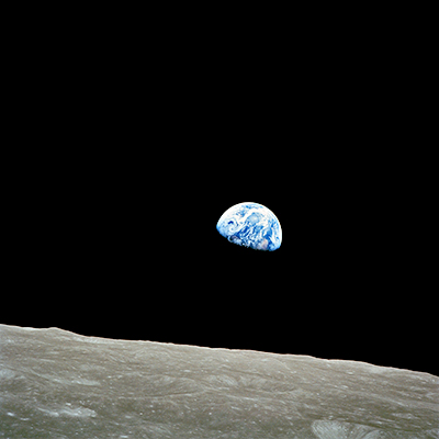 Earthrise for mobile 400 x 400 px